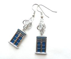 These Doctor Who TARDIS earrings are inspired by everyone's favorite blue police box. They make a great gift for your favorite Whovian!  $12.