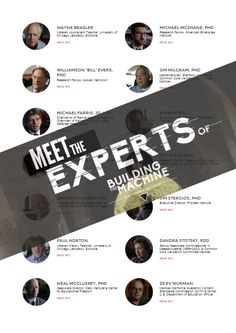 Meet the experts of Building the Machine!   #CommonCore