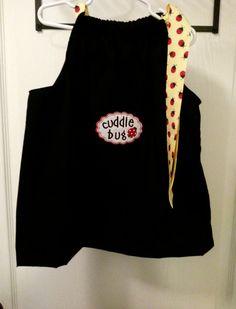Black Ladybug Dress with Cuddle Bug by GraceBennettBoutique, $15.00 girls infant toddler clothing handmade