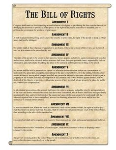 Rare image inside printable bill of rights