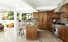 Dark-wood cabinetry