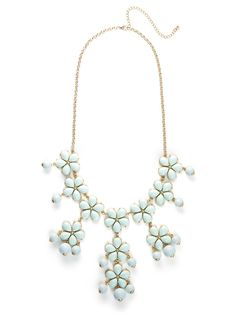 love this statement piece - our mint floral pendant bib!