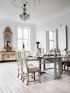 white floor