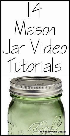 Mason Jar Video Tutorials - * THE COUNTRY CHIC COTTAGE (DIY, Home Decor, Crafts, Farmhouse)