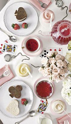 tea time, tea parti, sandwich, valentine day, parties, teas, alice in wonderland, queen of hearts, playing cards
