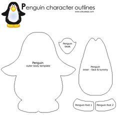 ... patterns, penguins crafts, penguin craft, penguin template, craft