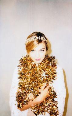 sparkly boa...