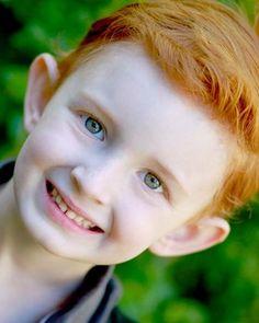Blue eyed redhead