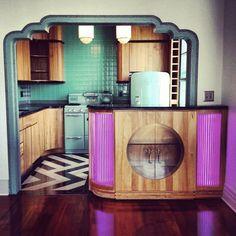Art Deco kitchen, Miami.