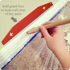 Painting base boards and moldings thehouseofsmiths.com #painting #baseboards