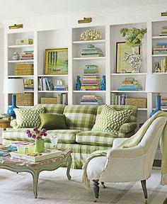 Nice arrangement on shelves