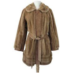 Coat Lilli Ann Fur Faux Adolph Schuman 1970s Mod
