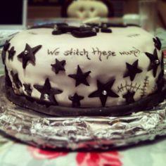 Black Veil Brides inspired birthday cake.