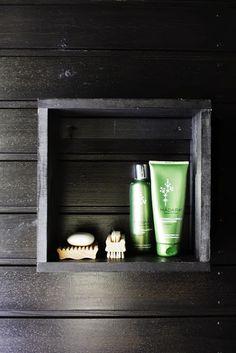bathroom storage, sauna