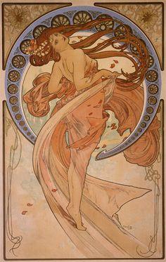 アルフォンス・ミュシャ 《舞踏》 1898年 飛騨高山美術館