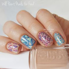 Will Paint Nails for Food: The Neverending Pile Challenge: Day 2, Pastels: Essie Spring Geometric