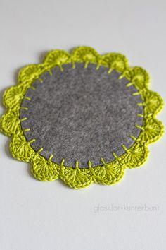 coaster tutorial, crochet.