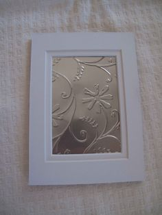 a lovely way to show off some of the really pretty embossing folders