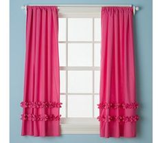 Cute curtains for girls room. Think this could be an easy DIY.