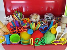 What to put into your play dough toolbox...perfect for a birthday gift