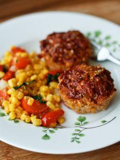 Mini Cheddar-BBQ Turkey Meatloaf Muffins