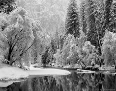 Merced River after a winter storm in Yosemite National Park