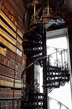 Trinity dublin staircase books library