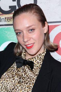 Chloe Sevignys slicked-back hairstyle
