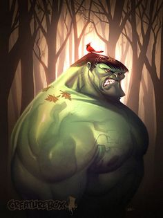 Hulk Fall by *CreatureBox on deviantART creaturebox, super hero, greg baldwin, cartoon, comic, illustrations, hulk fall, dave guertin, superhero