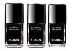 nail colours, fashion, nail polish, nailpolish, nail colors, black chanel, black nails, beauti, chanel black