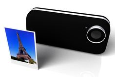 iPhone case that prints out your pictures like a Polaroid by Mac Funamizu.
