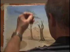 ▶ Painting Watercolour Trees 2 - Winter Trees - YouTube