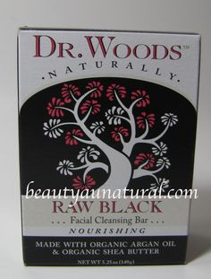 Beauty Au Natural: Dr. Wood's Raw Black Facial Cleansing Bar