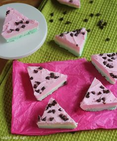 Watermelon Fudge  from @Shelly Jaronsky (cookies and cups)