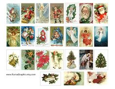 free christmas vintage printable | The size of the tags is 2x1.25 inch 48x32 mm and it's for standart 2 ...