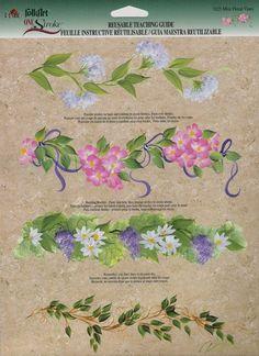 flower garlands one stroke painting | One Stroke Art