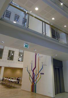 Storehagen Atrium Signage, Førde by Ralston & Bau , via Behance