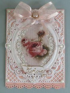 Mijn kaarten bloggie birthday card, craft, rose card, frame, mijn kaarten, beauti, vintage roses, vintag rose, kaarten bloggi