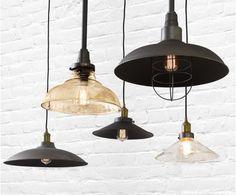 Manor 450mm Barn Metal Shade in Oil Rubbed Bronze | Modern Pendants | Pendant Lights | Lighting