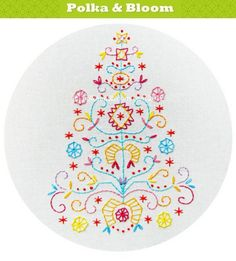 Embroidery Pattern Tree of Joy  PDF by polkaandbloom on Etsy, $4.75
