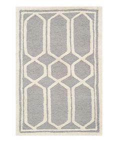 Silver Cambria Wool Rug #zulilyfinds $37.99