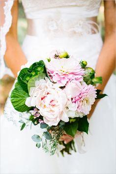 Dahlia and peony bouquet.
