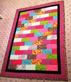 - Brick pattern quilt- I made and posted 12 of these to the Watoto project in Uganda Africa