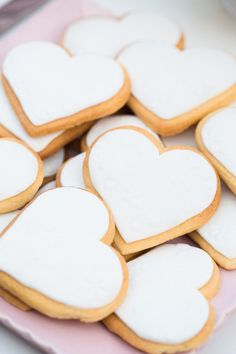 Heart cookies with white icing