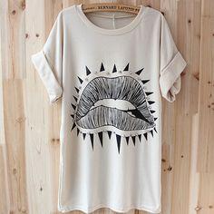 2013 Moda Outono Verão fresco frouxo longo Tops / T T-shirts Mulheres Sequin Animal Print camisetas