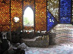 Introducing the Bottle Wall, a peculiar form of stained glass. You won't see any mention of bottle walls or bottle houses in the stately and academic tomes of stained glass history. But stained glass it is, and it deserves recognition.
