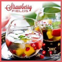 It's almost the weekend! Treat yourself with this sweet Strawberry Fields cocktail made with Sutter Home White Zinfandel. http://ow.ly/w7Sqr
