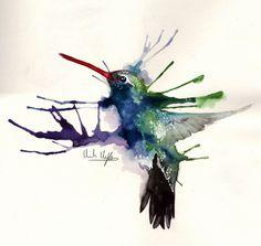 Hummingbird by HCHughes.deviantart.com on @deviantART