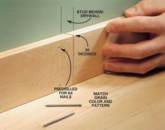How to trim a room -will need this when I get around to finishing the basement!