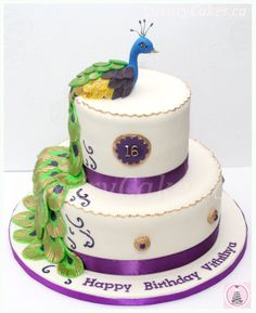 Peacock cake - by Sobi @ CakesDecor.com - cake decorating website
